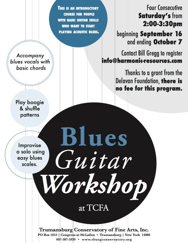 blues guitar workshop poster