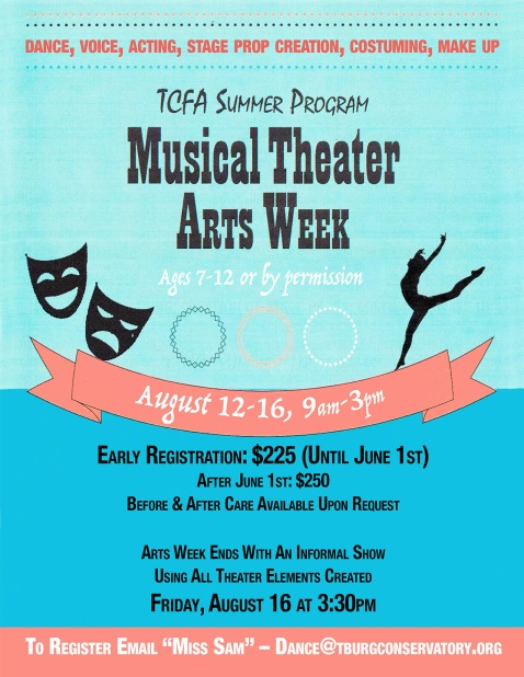 Musical Theater arts flyer 2019